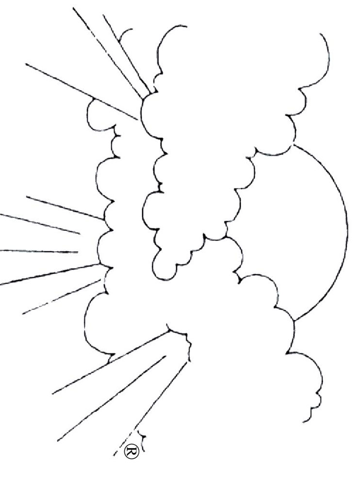 Cloud Coloring Pages Download And Print Cloud Coloring Pages