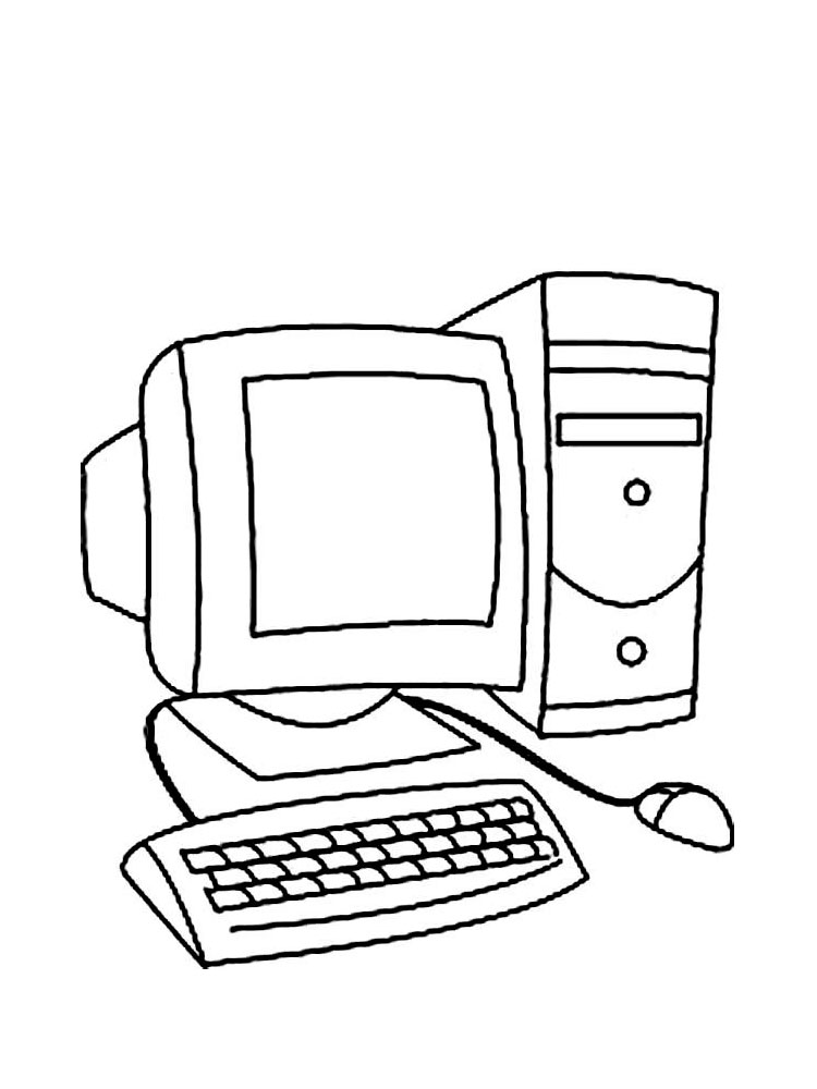 Computer coloring pages. Download and print Computer ...