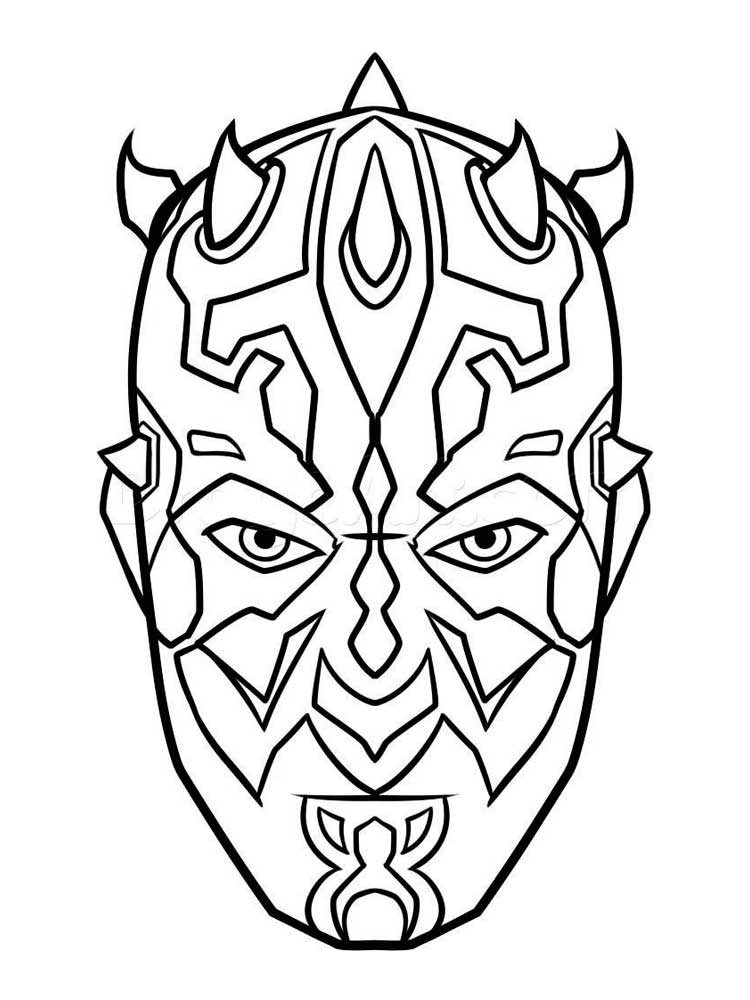 Darth Maul Coloring Pages Download And Print Darth Maul