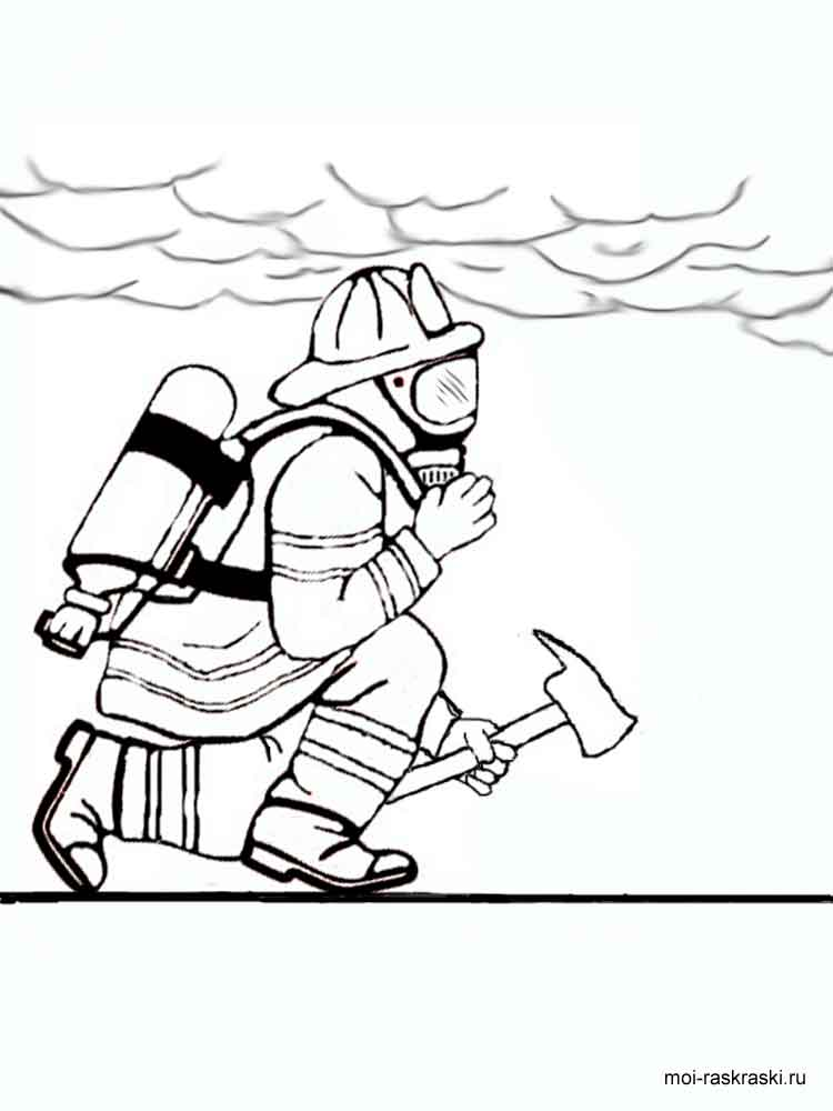Fireman coloring pages. Download and print Fireman ...