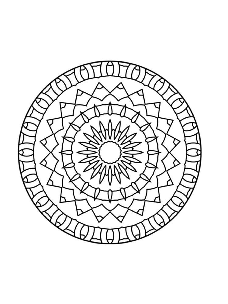 Kaleidoscope coloring pages. Download and print ...