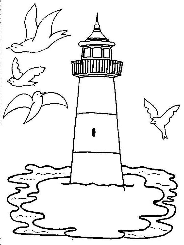 Lighthouse coloring pages. Download and print Lighthouse ...