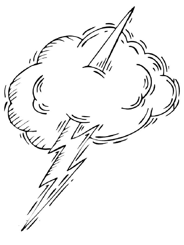 lightning coloring pages - photo#27
