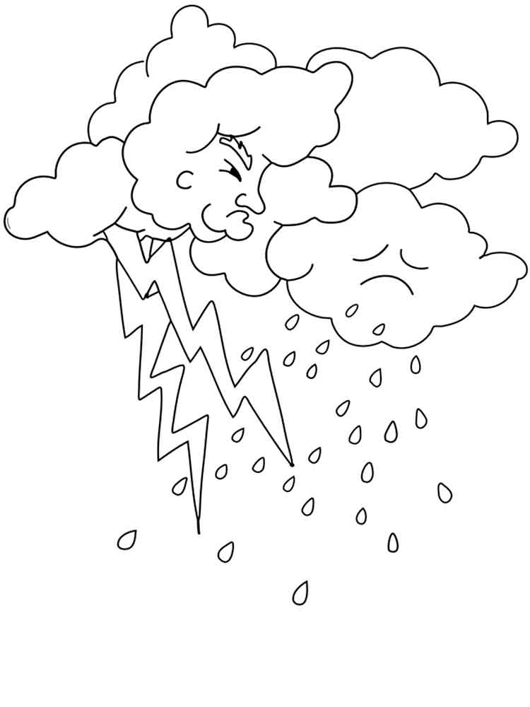 lightning coloring pages - photo#23