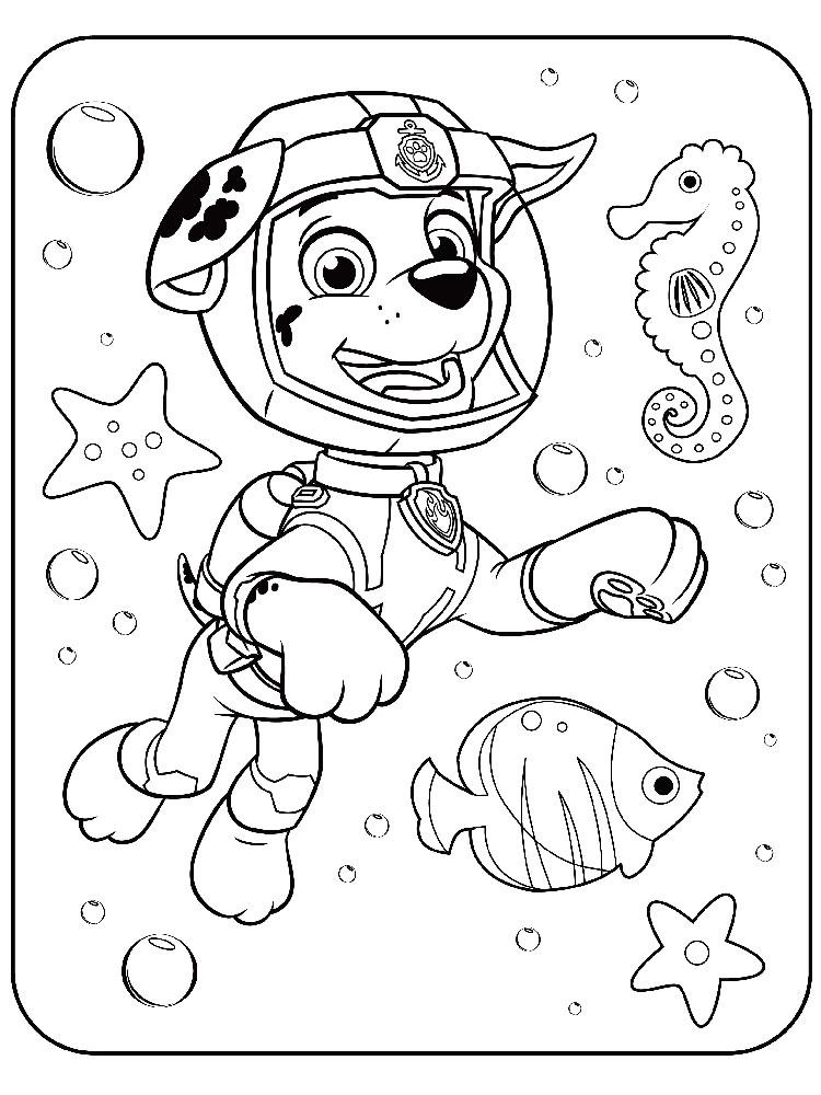 Marshall Paw Patrol coloring pages. Download and print ...
