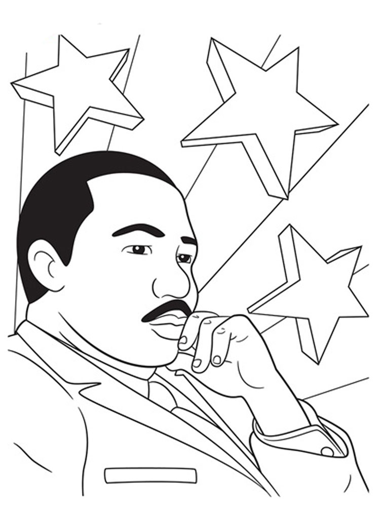 Martin Luther King Coloring Pages. Download And Print Martin Luther King  Coloring Pages