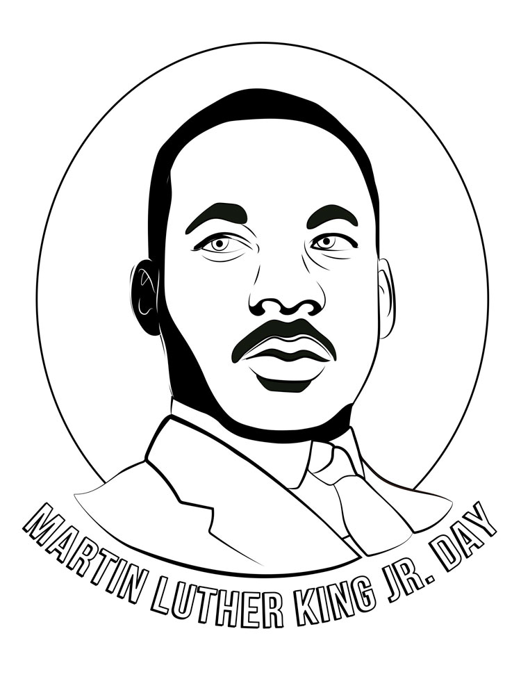 Martin Luther King coloring pages. Download and print ...