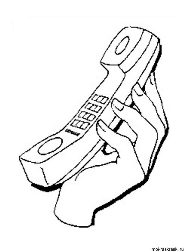 phone coloring pages 13 - Cell Phone Coloring Pages