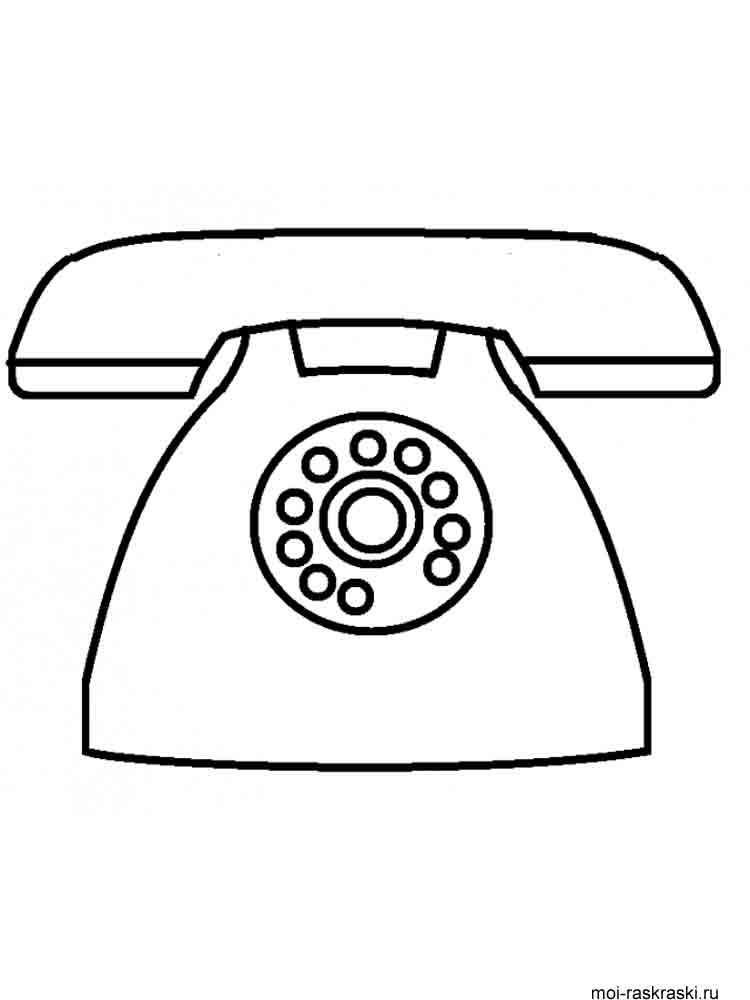 telephone coloring pages - photo#18