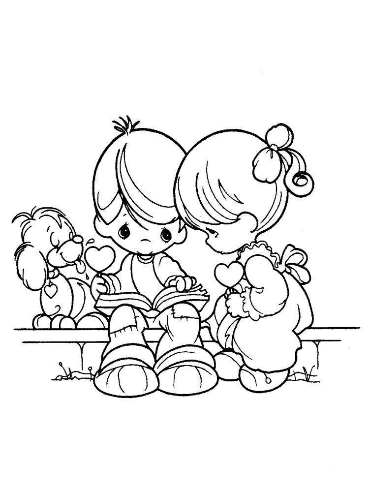 Precious Moments Coloring Pages. Download And Print Precious Moments  Coloring Pages