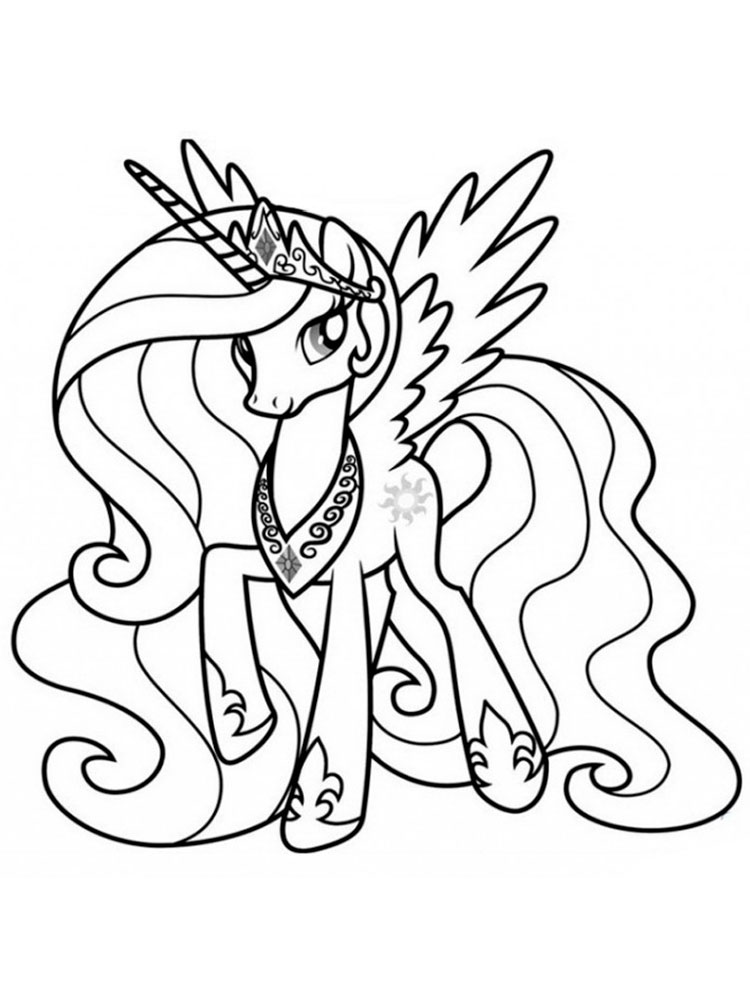 Princess Celestia coloring pages. Download and print ...