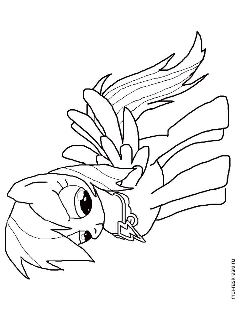 Rainbow Dash coloring pages. Download and print Rainbow ...