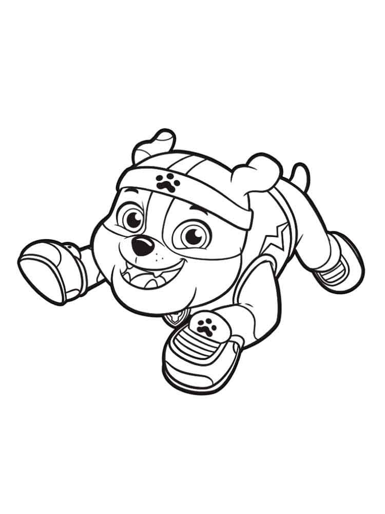 Rubble Paw Patrol coloring pages. Download and print ...
