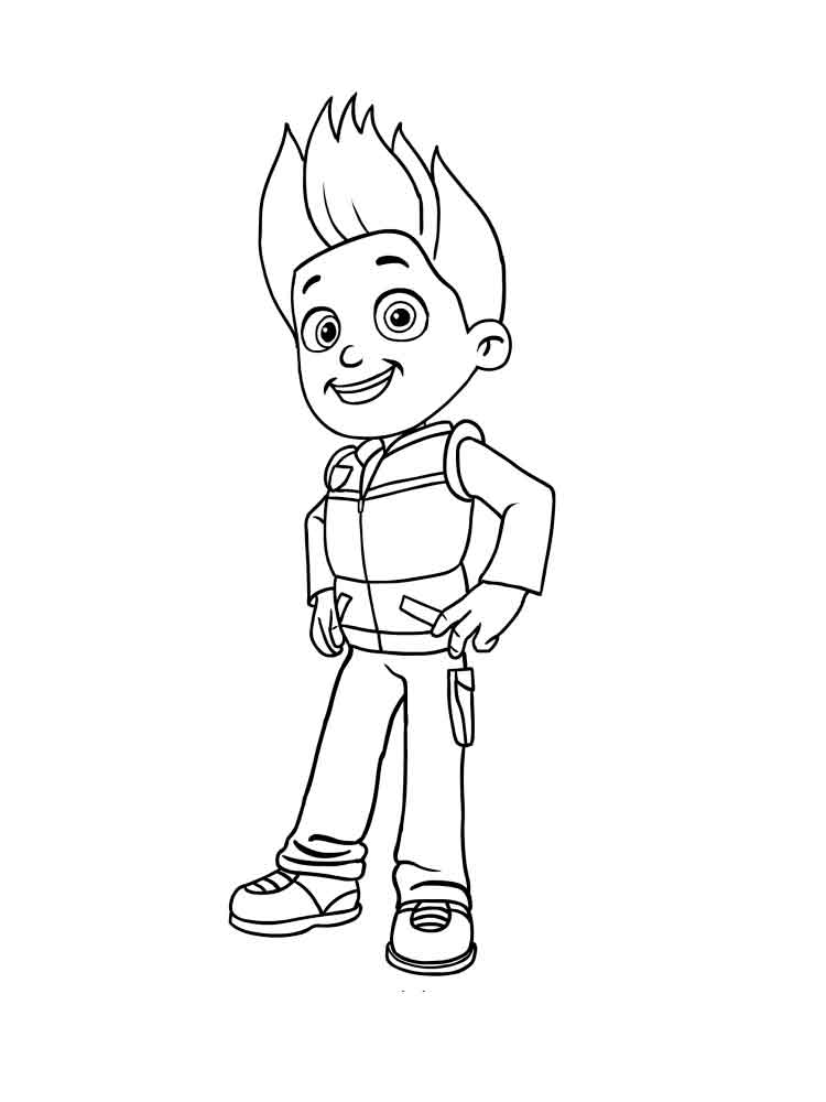 Ryder Paw Patrol Coloring Pages Download And Print Ryder Paw Patrol Coloring Pages