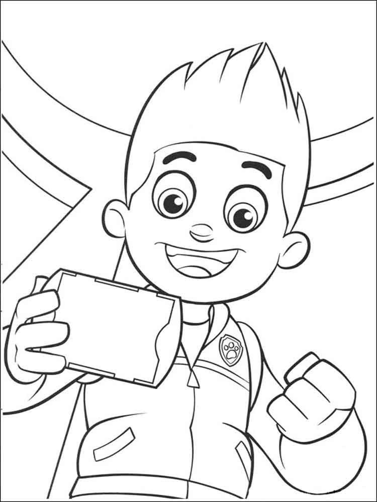 ryder paw patrol coloring pages download and print ryder