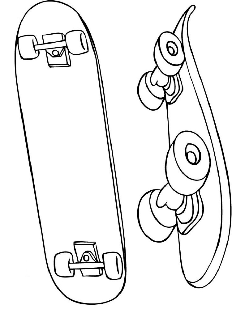 Skateboarding coloring pages. Download and print ...