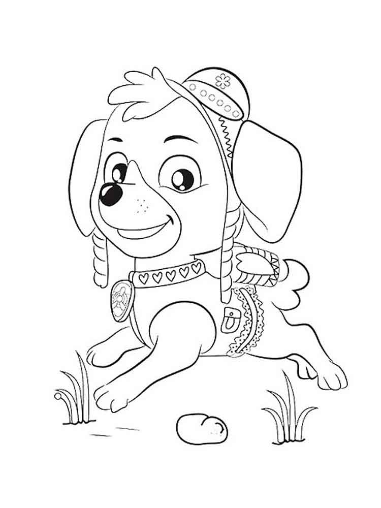 Skye Paw Patrol coloring pages. Download and print Skye ...