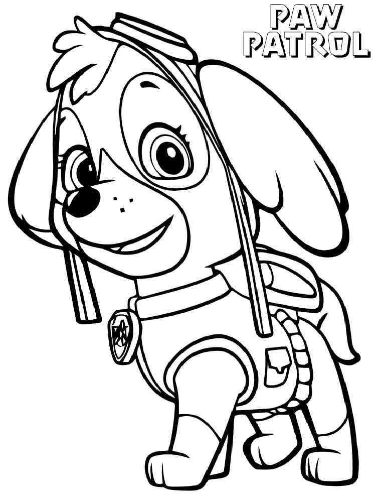 Skye Paw Patrol coloring pages. Download and print Skye ...