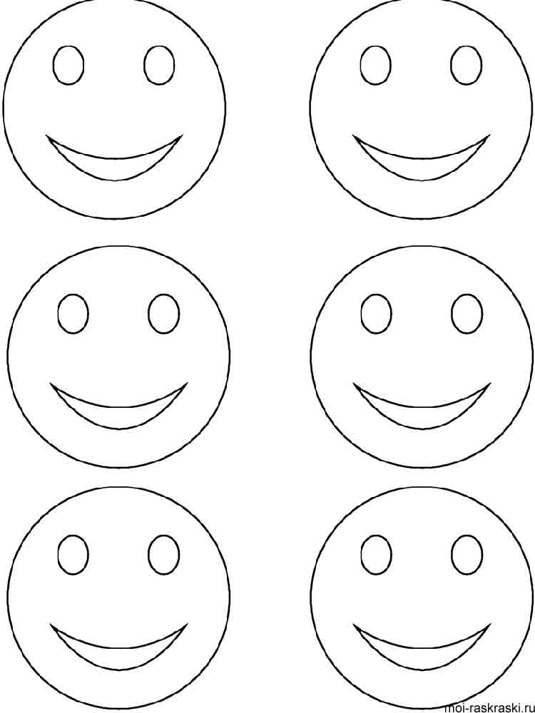 Free printable Smiley Face coloring pages.
