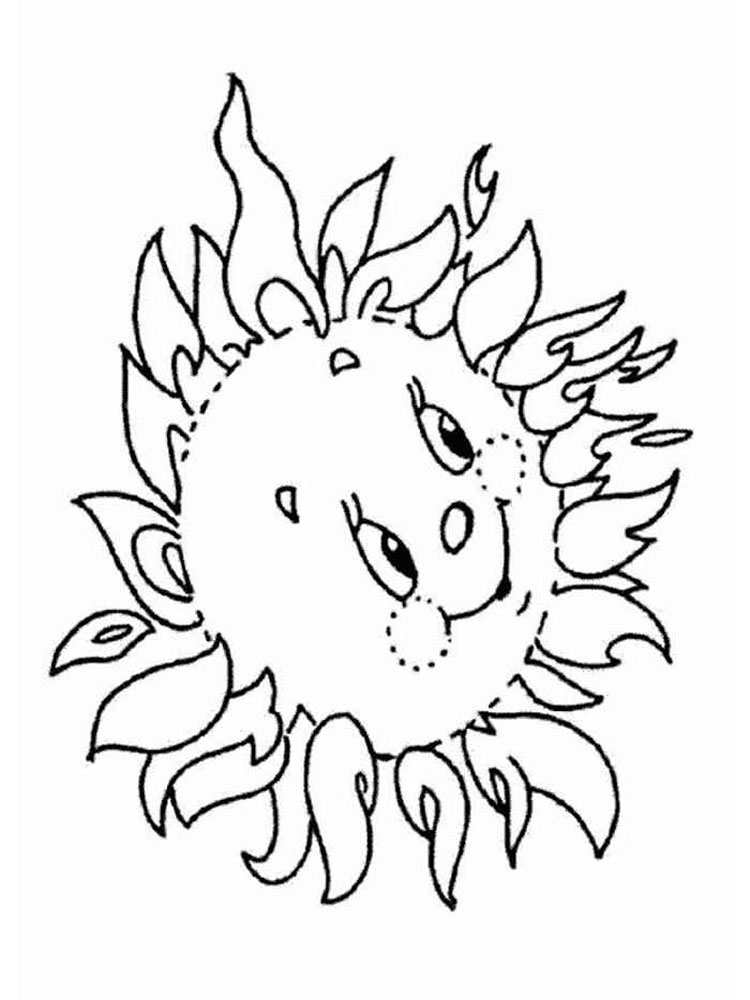 sun coloring pages 1 - Sun Coloring Pages