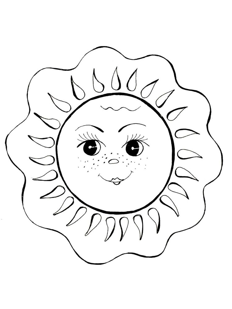 Sun coloring pages. Download and print Sun coloring pages.