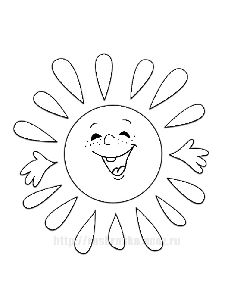 Sun Coloring Pages Print