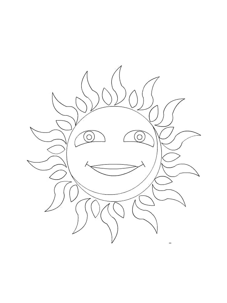 sun coloring pages download and print sun coloring pages