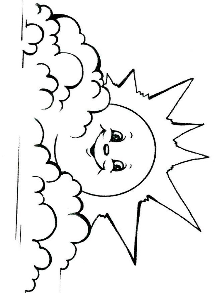 Sun coloring pages Download and