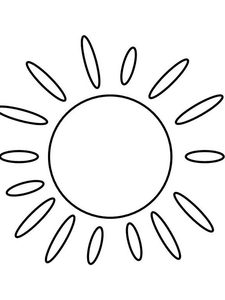 sun coloring pages 9 - Sun Coloring Page