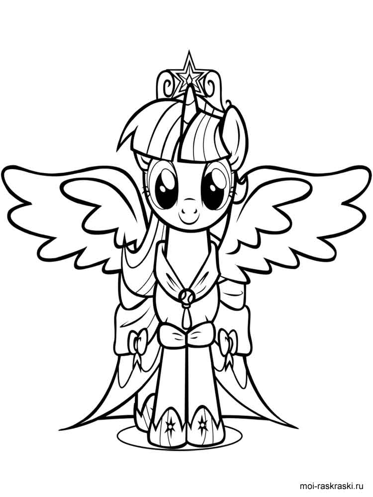 Twilight Sparkle coloring pages. Download and print ...