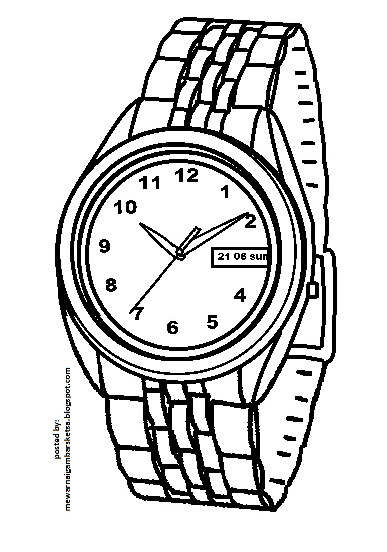 Watch And Clock Coloring Pages 10