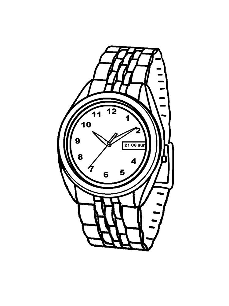 Watch And Clock Coloring Pages Download And Print Watch