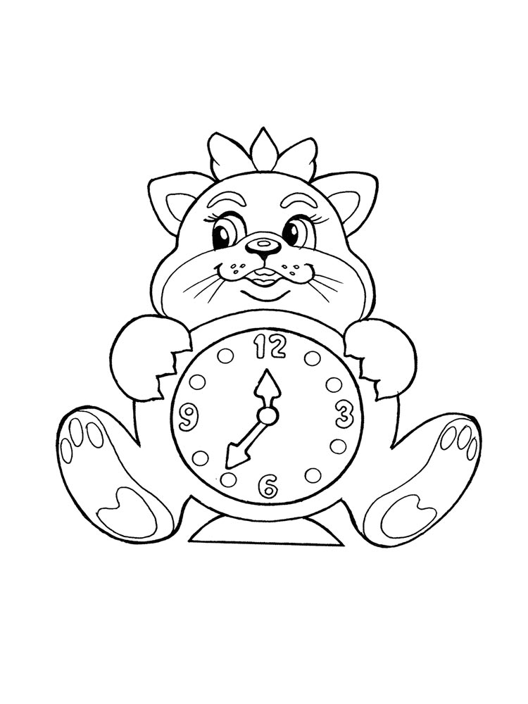 Watch And Clock Coloring Pages Download And Print Watch And Clock Coloring Pages