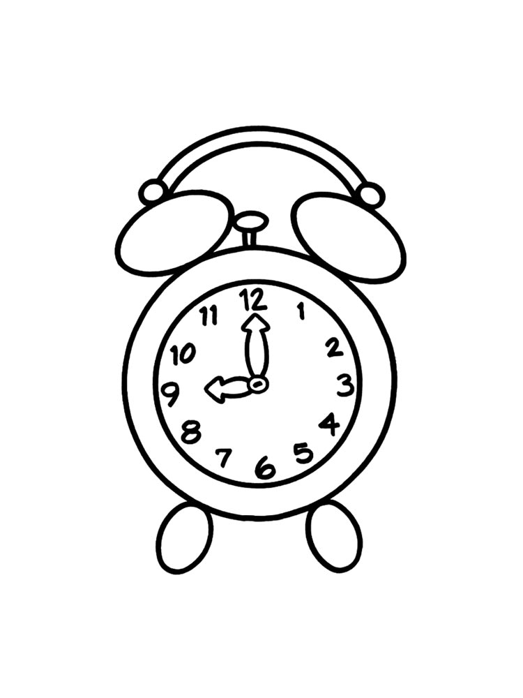 Watch And Clock Coloring Pages 6