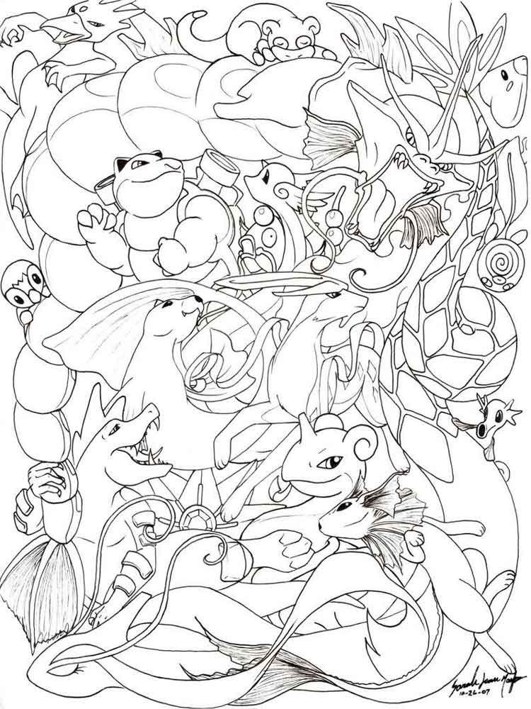 All Pokemon coloring pages Free