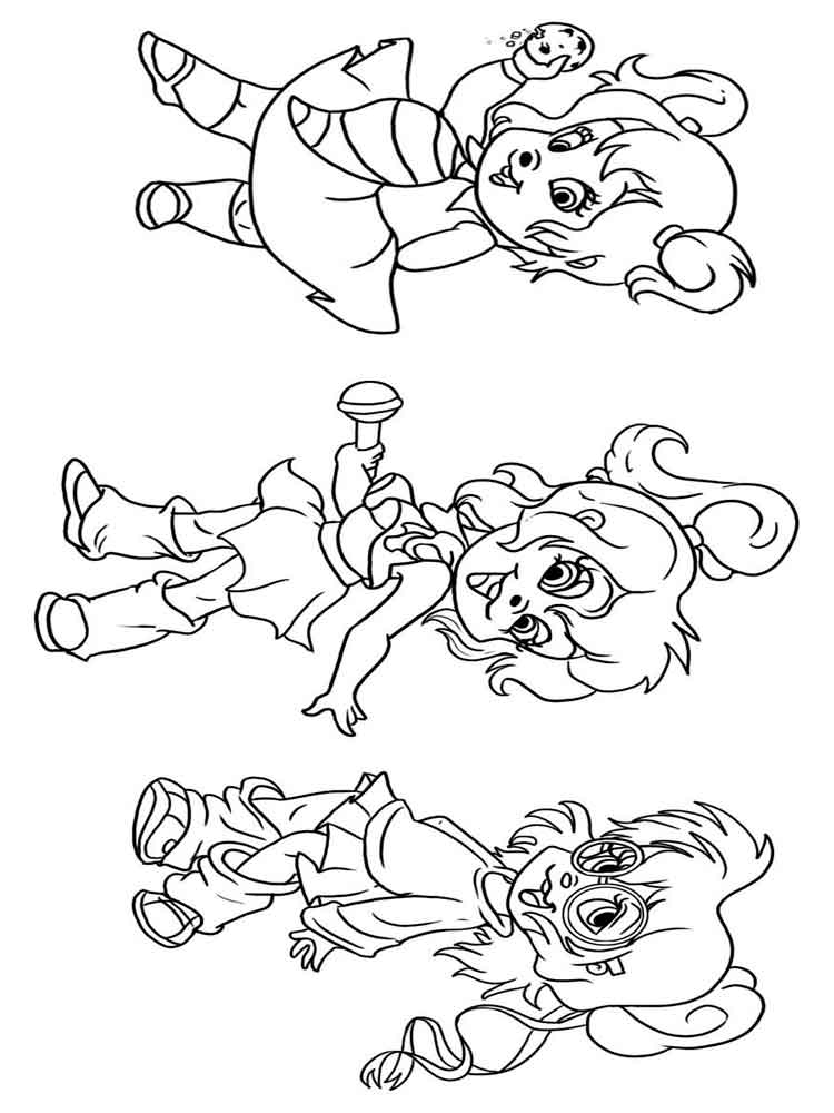 Alvin chipettes coloring pages free printable alvin for Chipettes coloring pages to print
