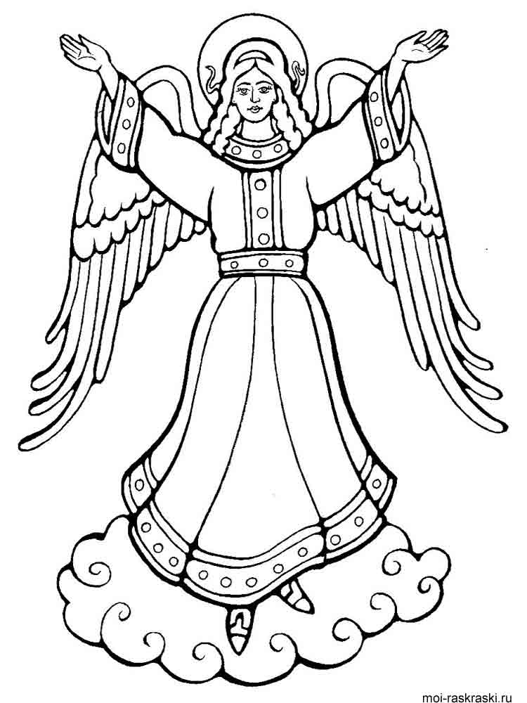 Angel coloring pages download and print angel coloring pages for Coloring page angel