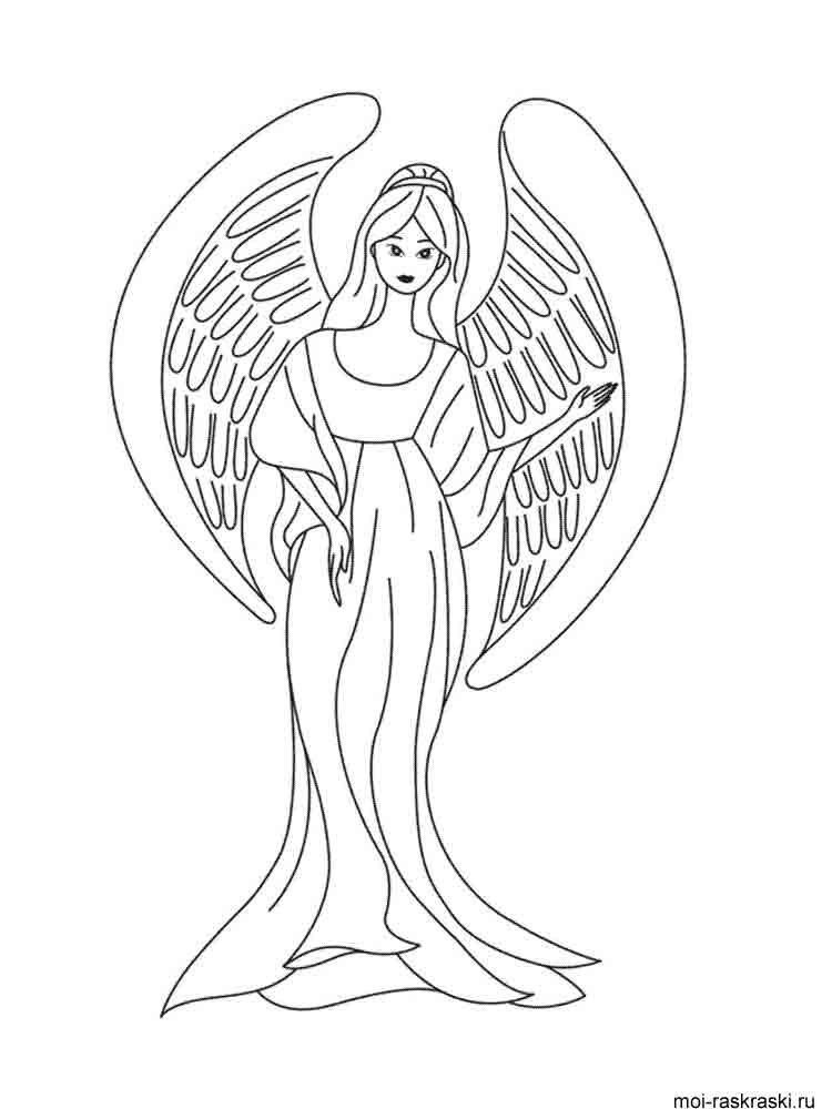 Angel coloring pages Download and print Angel coloring pages