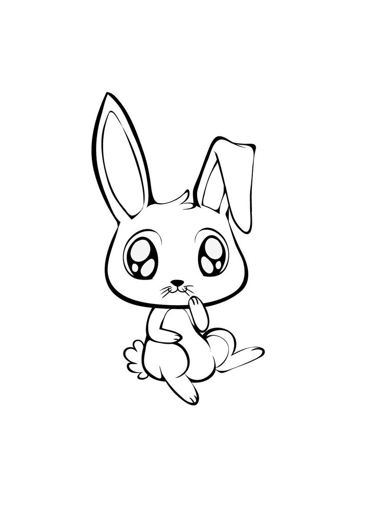 Anime Animals coloring pages Free Printable Anime Animals
