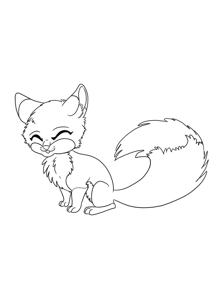 Anime animals coloring pages free printable anime animals for Animal coloring pages printable free