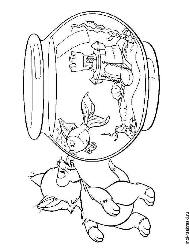 aquarium plants coloring pages - photo#21