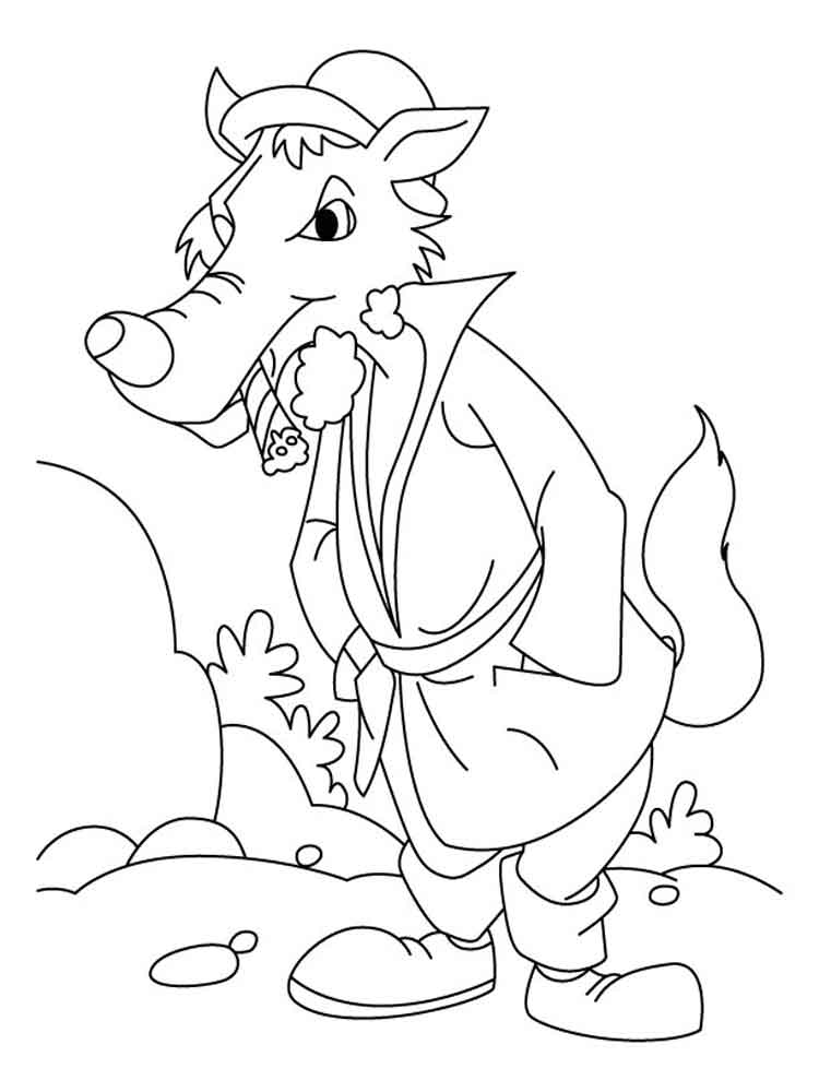 Bad Wolf coloring pages Free Printable Bad Wolf coloring