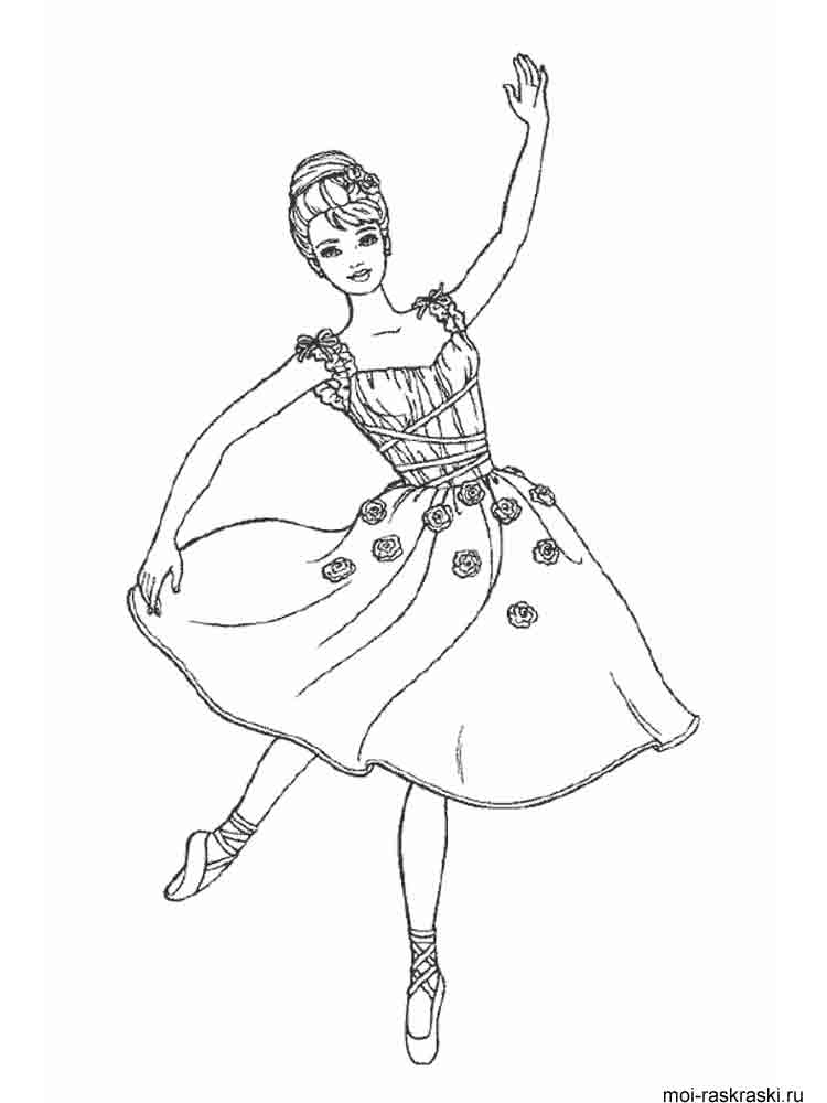 ballerina coloring pages 10 - Ballet Coloring Pages