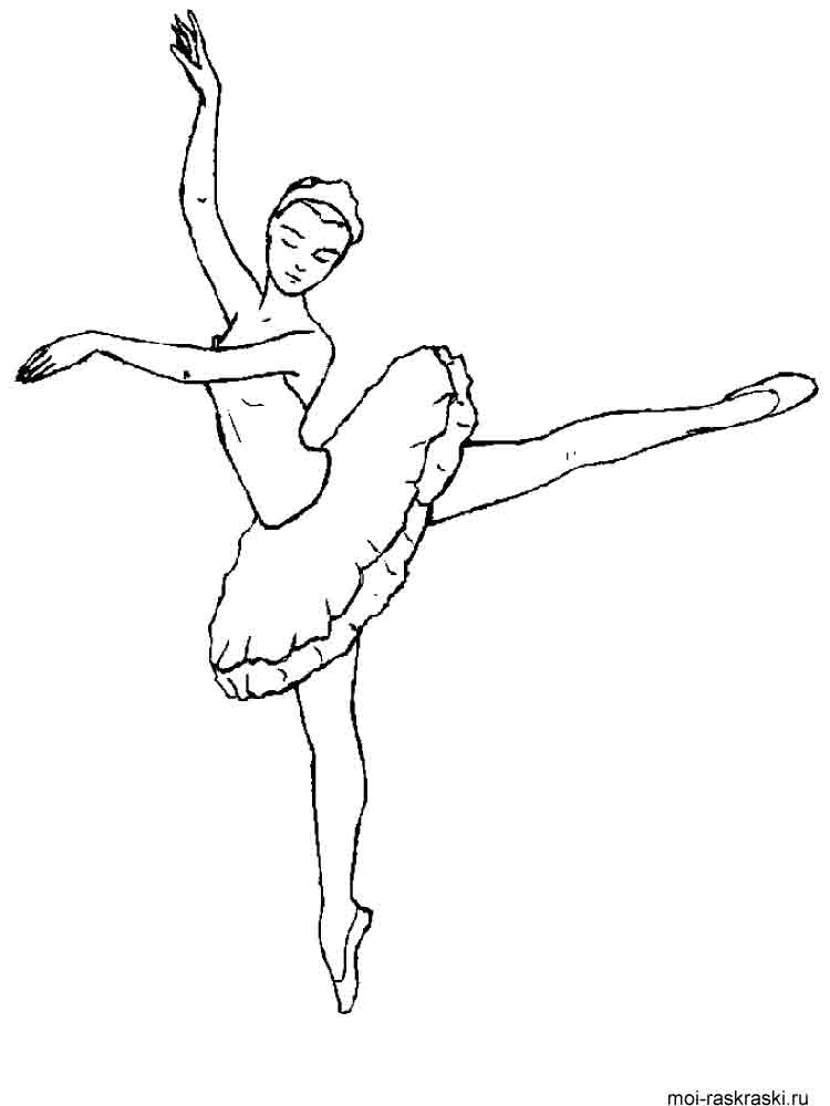 Ballerina coloring pages. Download and print Ballerina ...