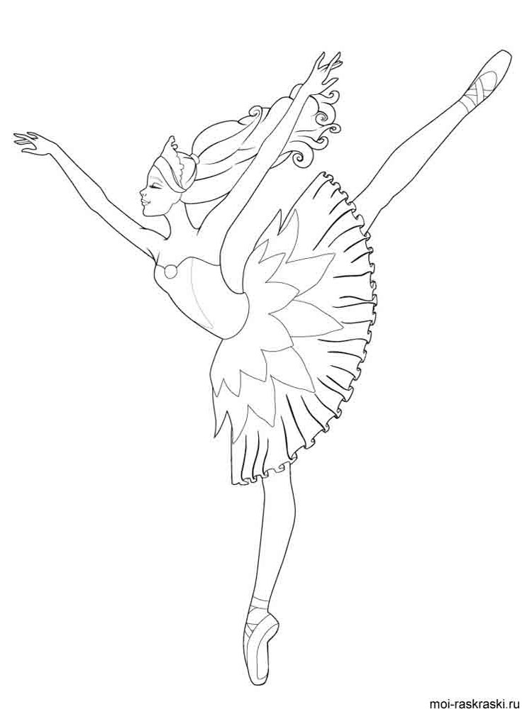 Ballerina Coloring Pages Download And Print Ballerina