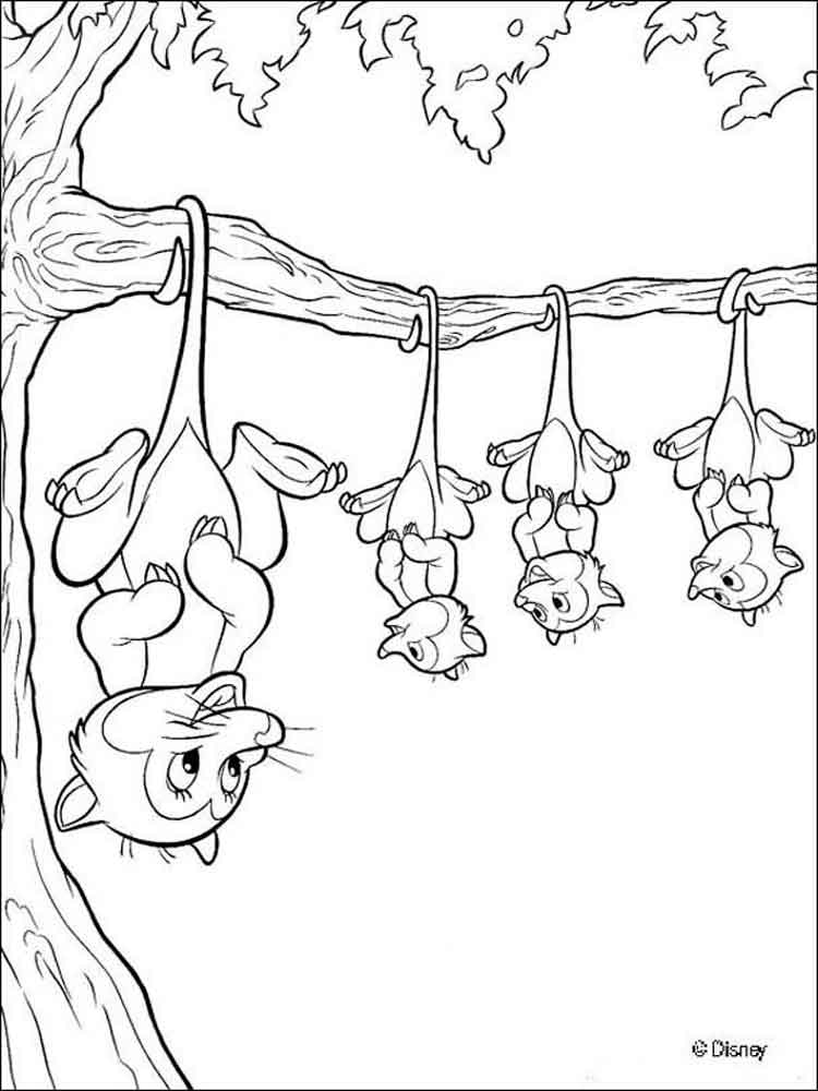 bambi and friends coloring pages - photo#22