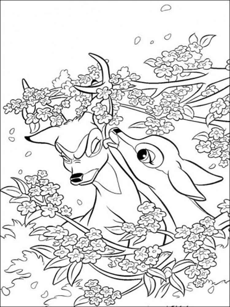 bambi and friends coloring pages - photo#12