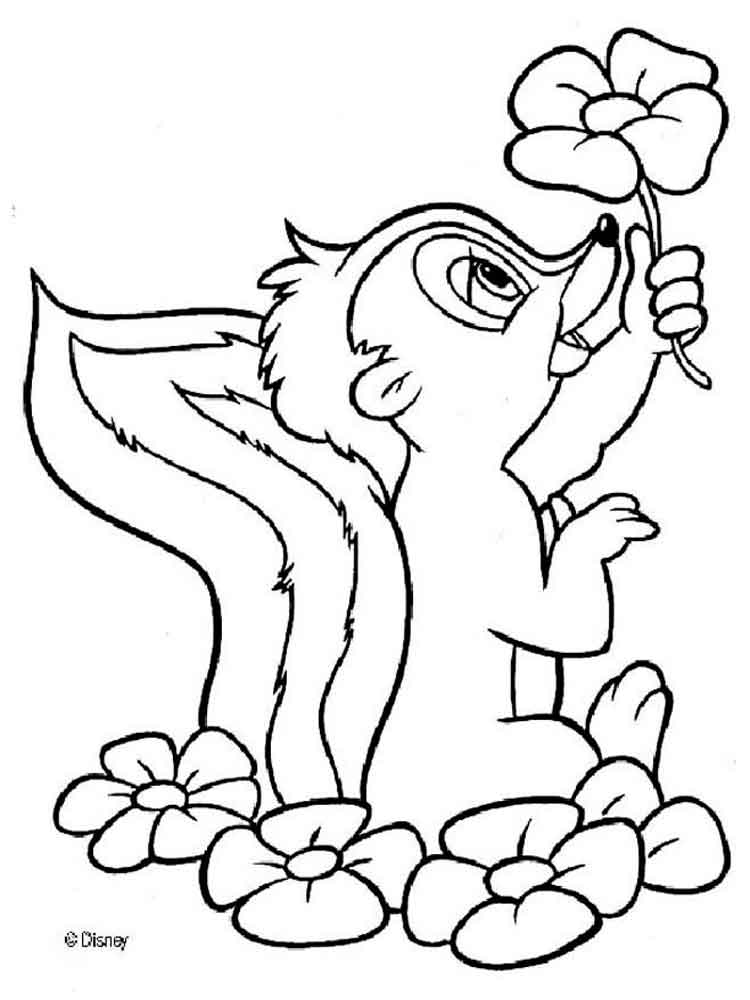 bambi and friends coloring pages - photo#5
