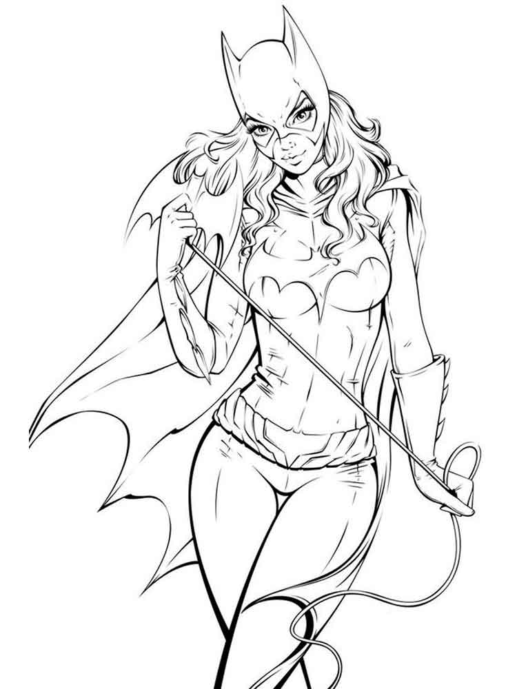 Batgirl coloring pages. Free Printable Batgirl coloring pages.