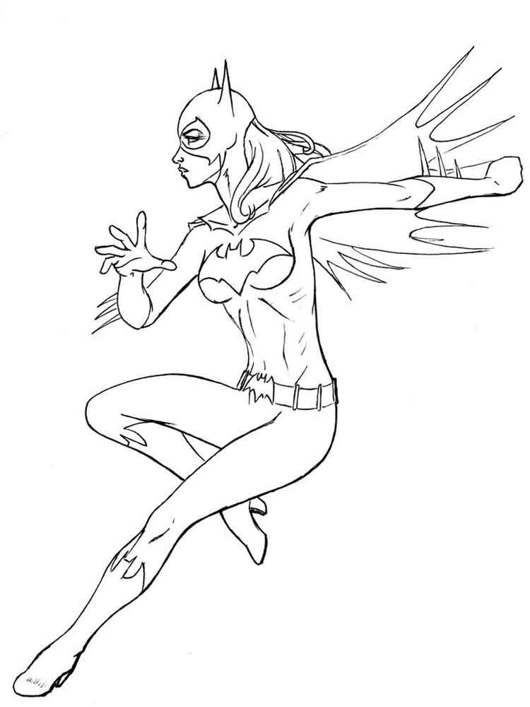 batgirl coloring pages 5 - Batgirl Coloring Pages